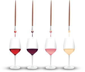 brushes and wine